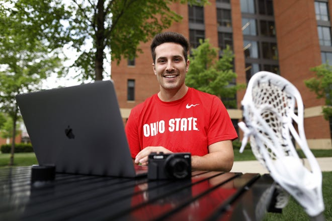 """If the NCAA passes legislation to allow college athletes to profit from the use of their name, image and likeness, athletes such as Ohio State lacrosse player Mitchell Pehlke could be paid to promote products on his YouTube channel or TikTok account. """"There's definitely different ways I can make money in that space,"""" he said."""