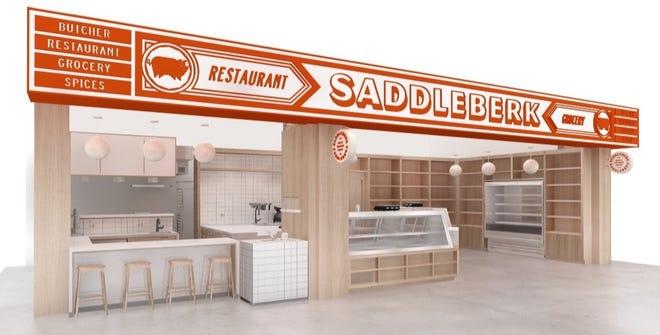 A rendering of Saddleberk's space in North Market Bridge Park