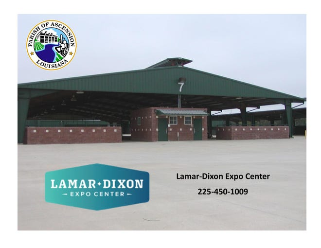 Lamar-Dixon Expo Center is open for parish residents to house horses and cattle if needed.