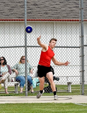 Tekonsha sophomore Wyatt Blashfield swept the day down in the pits Monday, winning the Shot Put and the Discus at the D4 Regional tune-up held at Colon