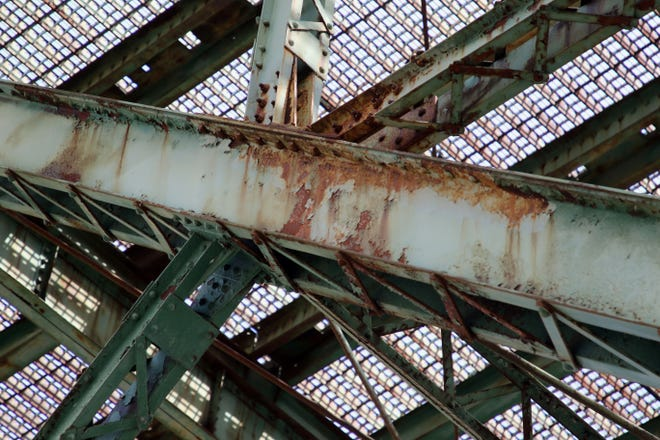 In this file photo the underside of Cascade bridge, Wednesday April 10, 2019 in Burlington. The bridge has been closed since 2008.