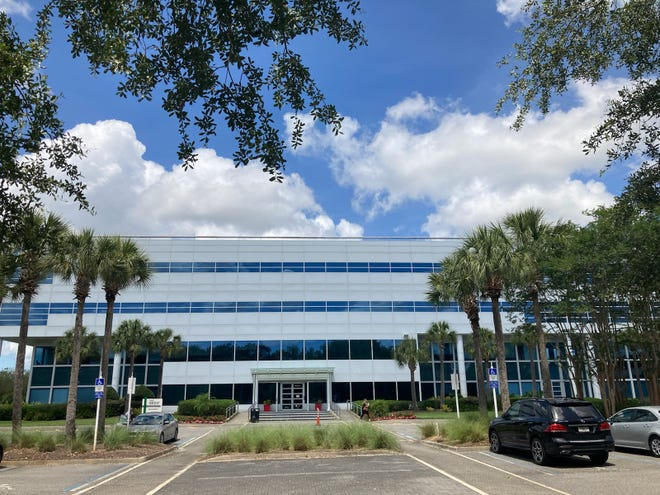 Genpact LLC has operated from this building on Deerwood Park Boulevard since 2017. The company has told state officials it will be laying off 489 employees by Aug. 31.