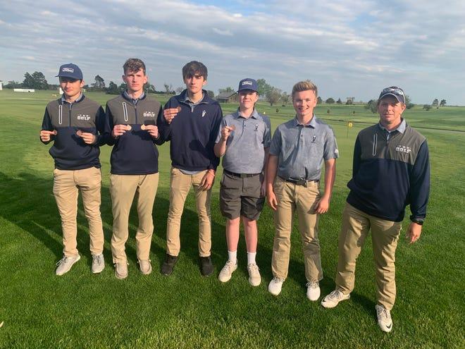 The Thomas More Prep-Marian golf team won Monday's Class 3A regional at Smoky Hill.