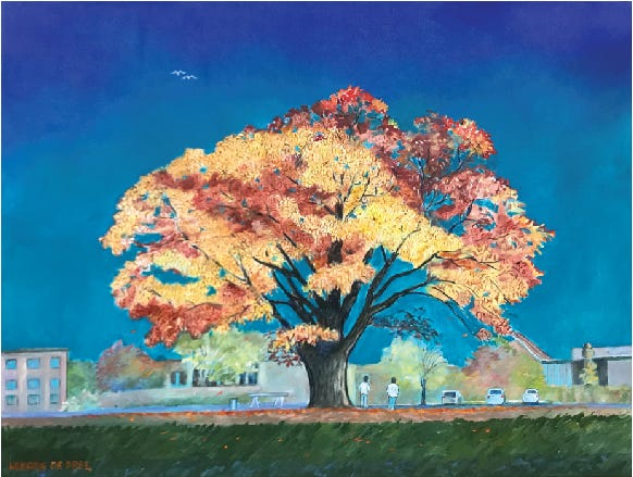 """""""Grand Old Tree In Autumn"""" by Lenore DePree at the Holland Arts Council"""