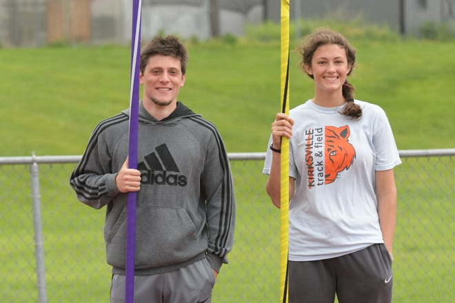 Kirksville's Michael and Corinne Vorkink pose together before practice.