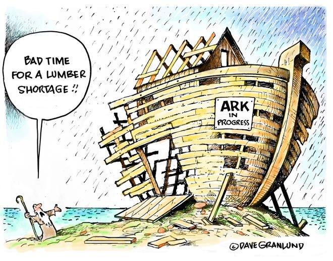 Dave Granlund cartoon on lumber shortage