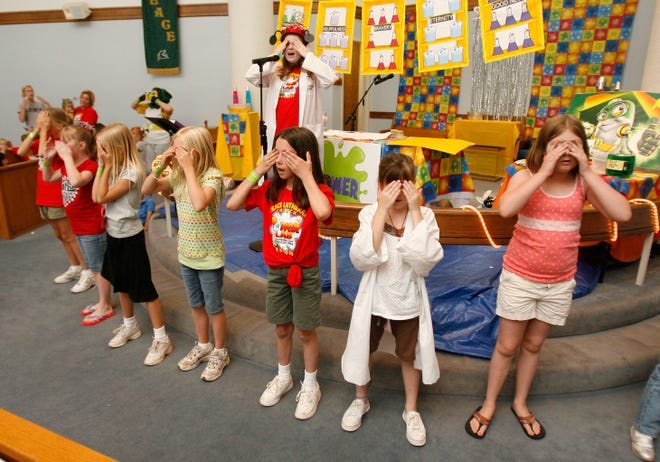 Girls lead a series of songs during a past Vacation Bible school. (Photo: The Oklahoman File)