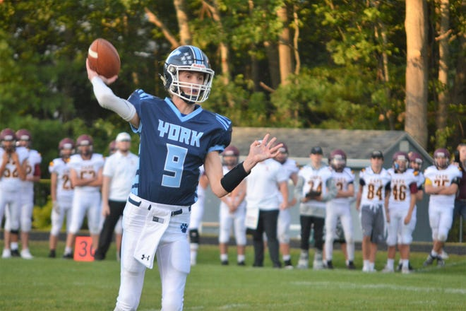 York's Teagan Hynes was one of three Wildcats who were nominated to play in this summer's annual Maine Lobster Bowl Shrine Classic. The annual benefit football game was cancelled on Monday for the second straight year.