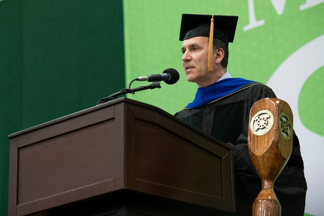 Dr. John C. Wagner of Idaho Falls, Idaho, director of Idaho National Laboratory and president of Battelle Energy Alliance LLC, spoke at four commencement ceremonies at Missouri S&T on Friday, May 14, and Saturday, May 15.