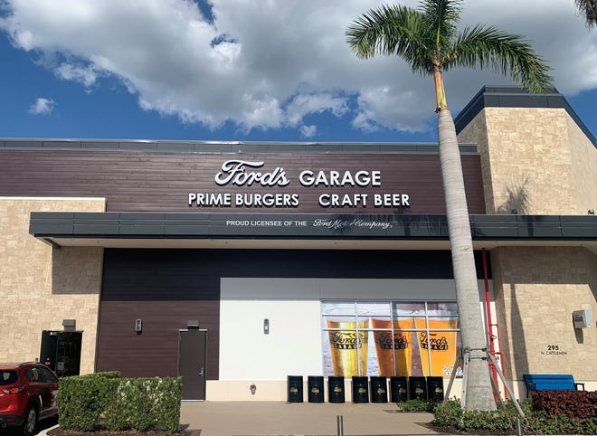 The first Sarasota area location of car-themed burger and beer restaurant Ford's Garage, in University Town Center, now plans to open by June 8.