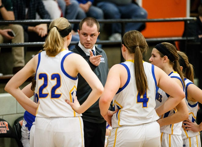 Tony Nika, seen here coaching the Buffalo Tri-City girls basketball team in 2017, has decided to stick with his current job after accepting a position to be the Riverton boys basketball coach.