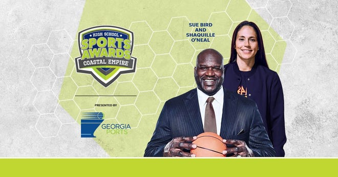 Basketball Hall of Famer Shaquille O'Neal and WNBA World Champion Sue Bird to present Athlete of the Year awards at the Coastal Empire High School Sports Awards.