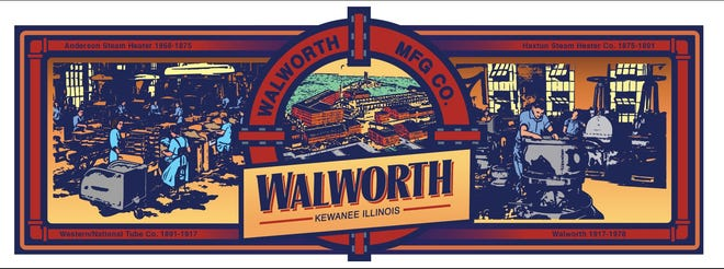 The newest Kewanee mural will be dedicated to one of the city's largest early companies, Walworth Manufacturing, which at one time employed thousands of area workers.