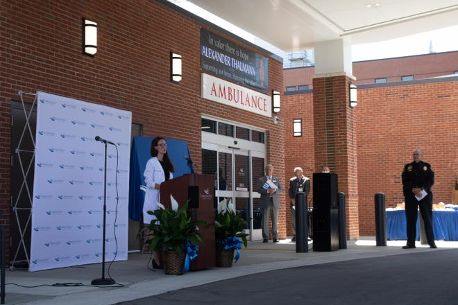 Dr. Rebecca Dubay recalls the day Alexander Thalmann was first brought to the emergency room.