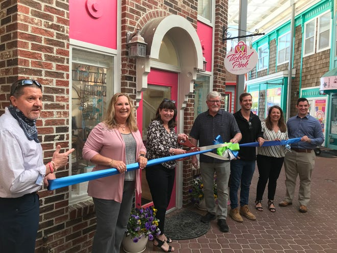 The Bethany-Fenwick Area Chamber of Commerce held a ribbon-cutting ceremony May 6 with new member Tickled Pink of Bethany Beach to celebrate its new location, at 100 Garfield Parkway, No. 10, in downtown Bethany.