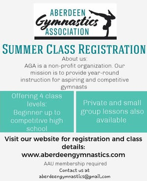 People can register online at www.aberdeengymnastics.com for the program.