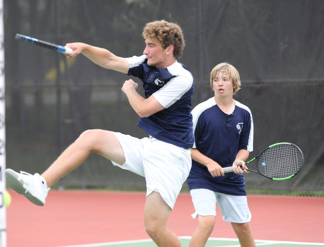 Hayden's Michael Sandstrom (left) and Gus Glotzbach (right) finished runner-up in doubles at last weekend's Class 4A state tournament at Kossover Tennis Center. They matched the highest finish by a Wildcat doubles team at state since 2006.