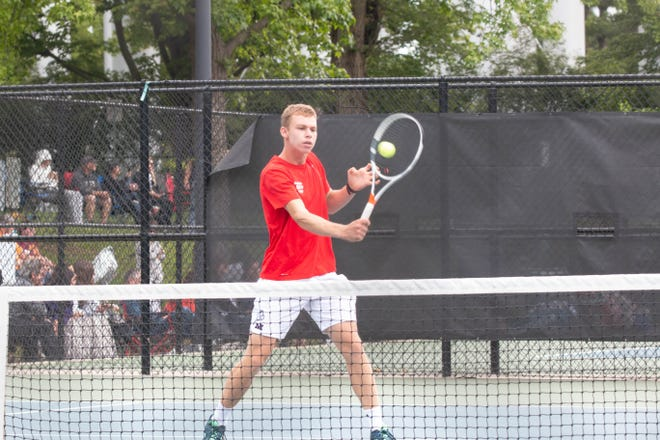 After finishing fourth at state in singles as a freshman and third as a sophomore, Manhattan's Daniel Harkin got his Class 6A state tennis championship last weekend, winning the title to cap a 31-1 season. He also won the 1,600 at the Centennial League track meet.