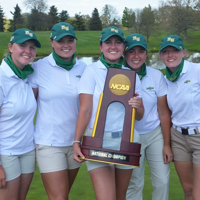 The Methodist University women's golf team claimed its 26th national title on May 14 in Michigan.