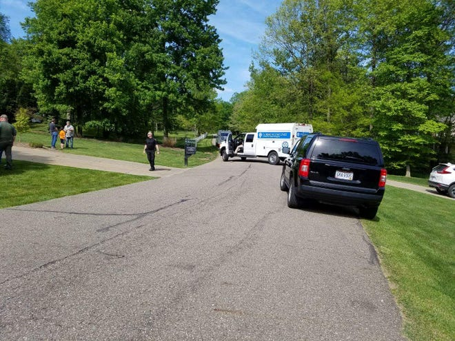 Multiple law enforcement agencies responded after a man fired a gun in front of his home in the 1300 block of Russell Drive NW south of Bolivar. The incident occurred after a deputy sheriff went to the house to ask about a suspicious letter Tuesday morning.