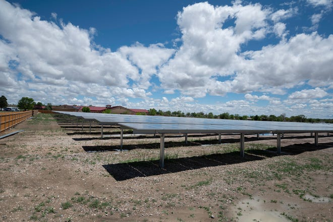A solar farm located near Oakshire Lane is used to help low income residents with affordable power.