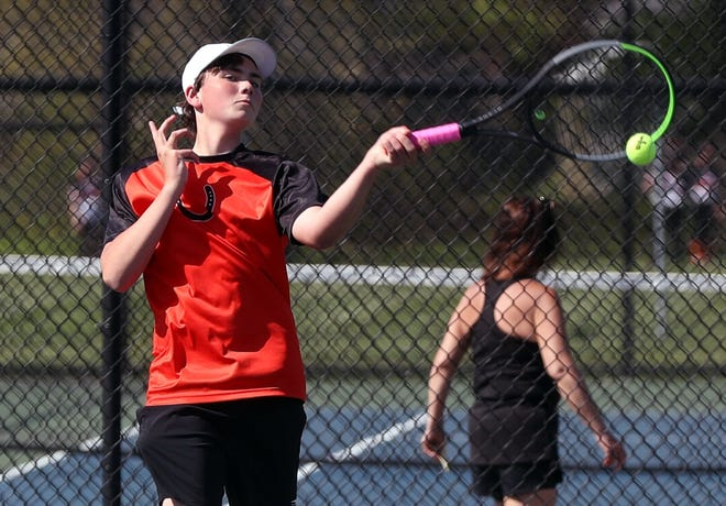Sophomore Gabe Fogle is expected to be one of the top returnees for the Delaware Hayes boys tennis team. In the postseason, he teamed with junior Ryder Kardas to reach a quarterfinal in the Division I sectional doubles tournament.
