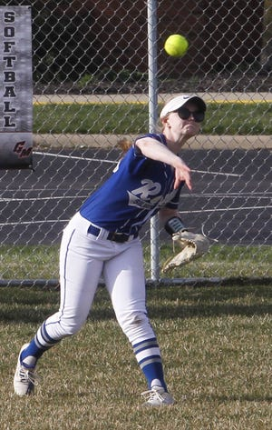Outfielder Catey Wolfe was one of four seniors for the Ready softball team, which finished 6-17 overall and 2-4 in the CCL.