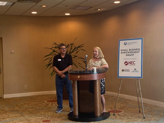 Rene and Susan Trevino, owners of Enjoy Corpus Christi Tours, were one of two recipients of NEC Co-op Energy and the United Chamber of Commerce's Small Business Empowerment Fund.