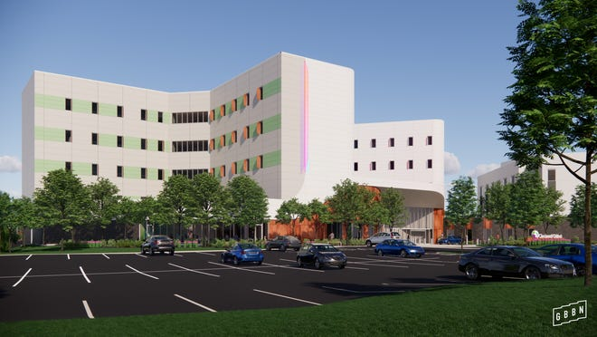 A rendering of the Cincinnati Children's Hospital Medical Center behavioral health center, the construction of which is expected to begin this summer in College Hill.