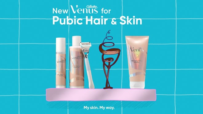 Gillette's new Venus for Pubic Hair & Skin Collection gets a boost from a jingle sung by a hair.