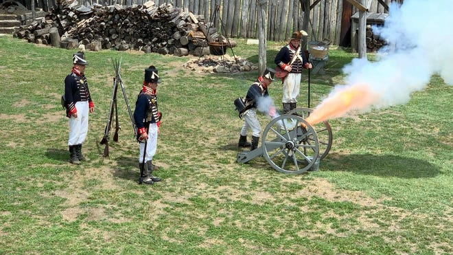 """Eugene Watkins, Site Manager at Old Fort Madison, a replica of the original fort, says it's one of the more unique sites to visit in the state of Iowa. """"You really don't come across it in school,"""" he says. """"It's an interesting and odd piece of American history."""""""