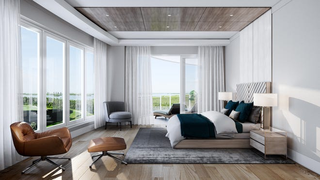 These condos are huge and the rooms are spacious. These end units (not penthouses) will have 4,642 under air and a total of 5,700 square feet of total living space.