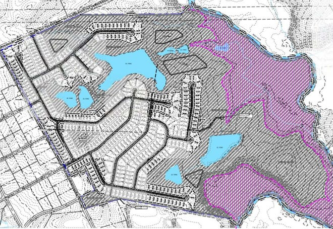This is the site plan for the proposed Briarwood subdivision in southern Greenville County.