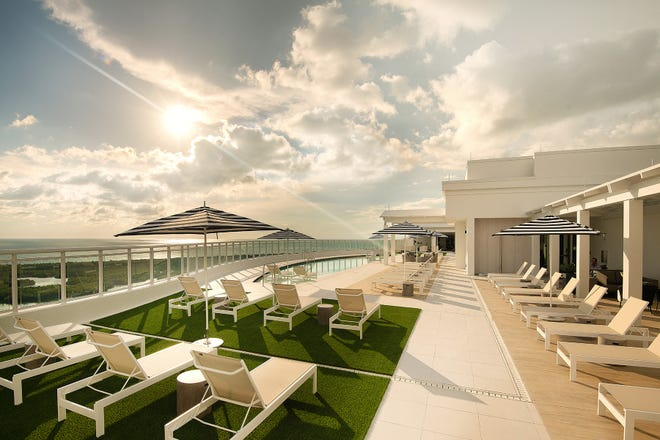 The towers at Kalea Bay have rooftop amenities including an infinity-edge pool with expansive sun deck.