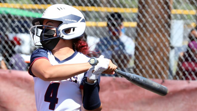 Junior Lady 'Cat Jocelyn Aguayo is finding her stride at the plate.
