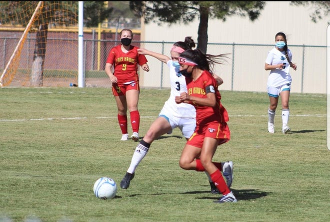 Centennial's Jennifer Enriquez andOñate's Maria Limon split the District 3-5A girls soccer Player of the Year.