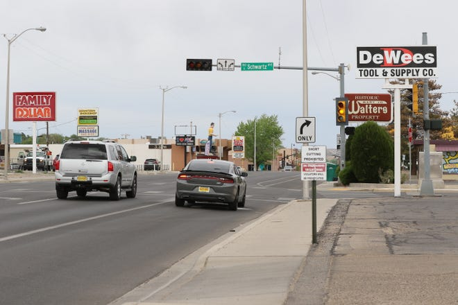 The intersection of West Main Street and North Schwartz Avenue is one of six intersections in the city of Farmington which will have its traffic signals removed.