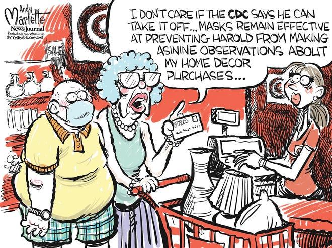 Marlette cartoon: No more masks?