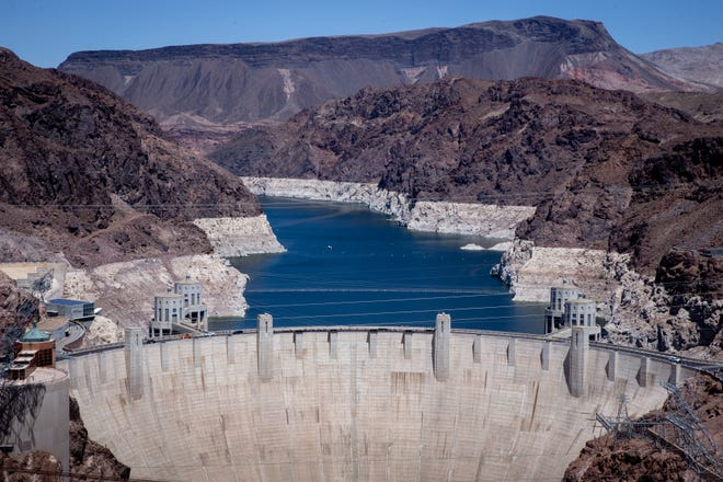 Lake Mead has shrunk by about 140 feet since 2000 and is now at 37% of full capacity.