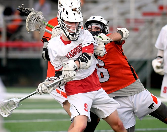 Susquehannock's Ben Tomasic had five goals on Tuesday in the Warriors' state Class 2-A playoff win.