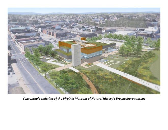 A conceptual rendering of the Virginia Museum of Natural History in Waynesboro.