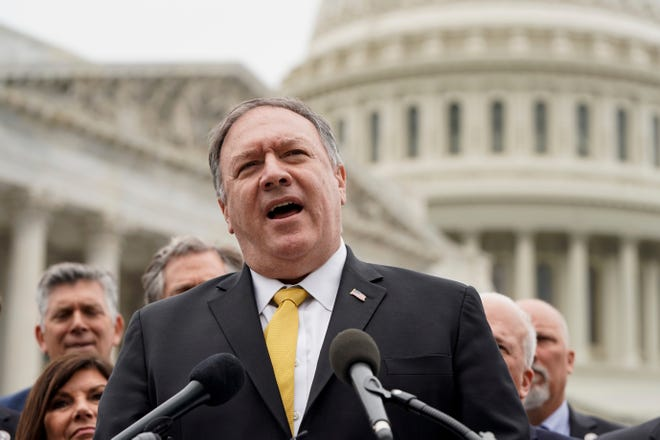 Former Secretary of State Mike Pompeo on Capitol Hill on April 21, 2021.