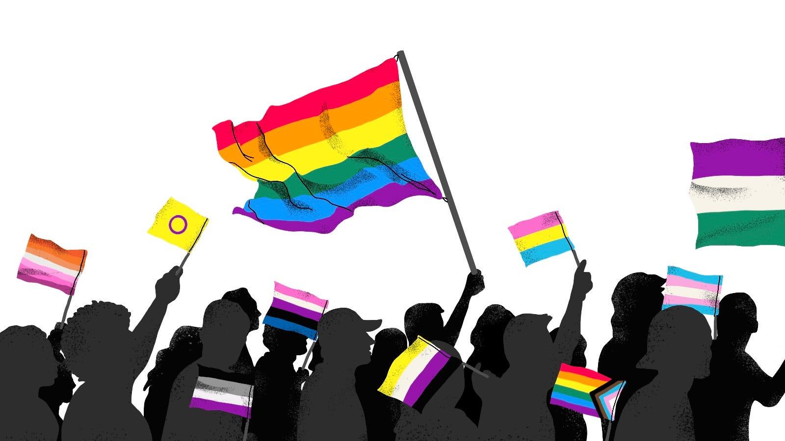 Sex Lesbian Bi Lgbt Flags Nonbinary Mens T-Shirt Gay Pride Trans