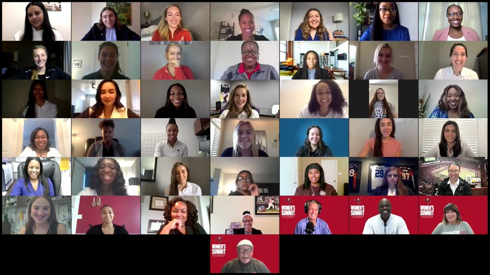 The Bucs hosted a virtual event last week for women looking to work their way to the NFL.