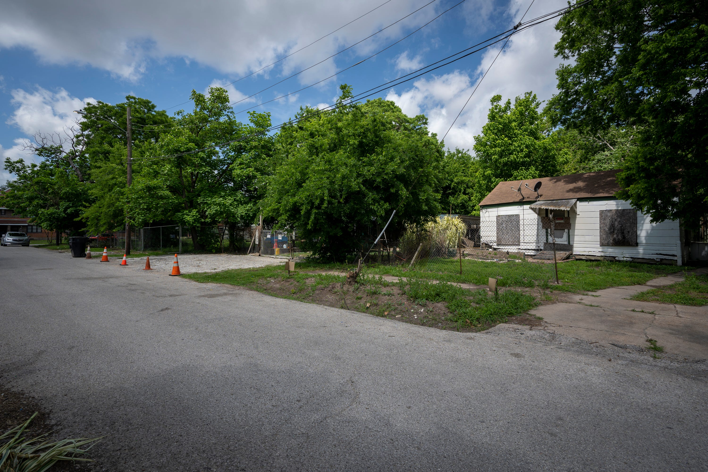 The home where George Floyd lived with his niece Bianca Williams now sits abandoned in Houston's Third Ward.