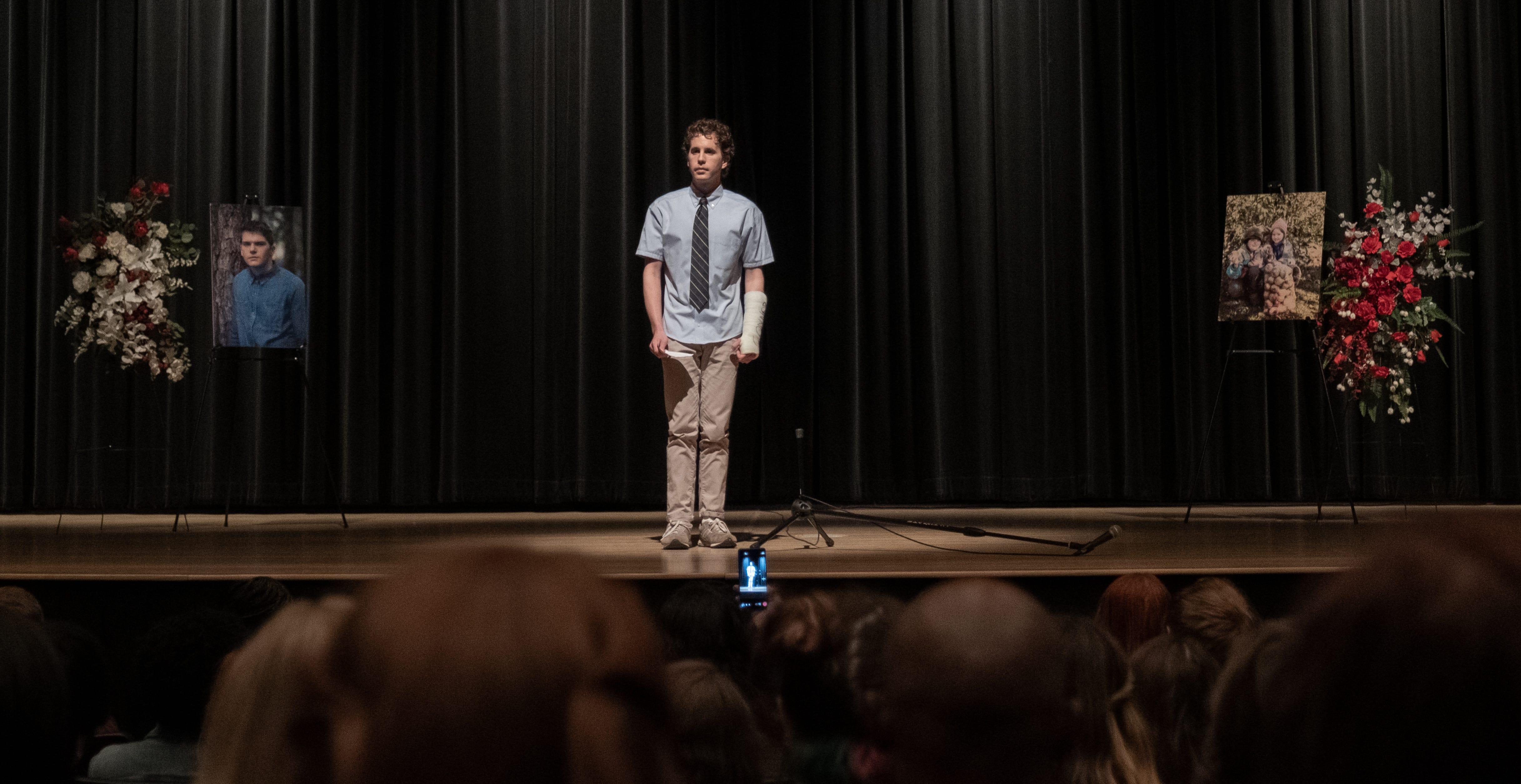 Watch Ben Platt reprise his role as Evan Hansen in  Dear Evan Hansen  trailer
