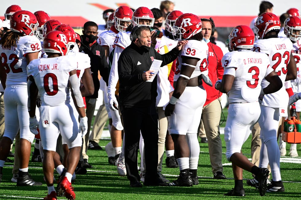 Coach Greg Schiano and Rutgers won at Michigan State, Purdue and Maryland last season playing a conference-only schedule.