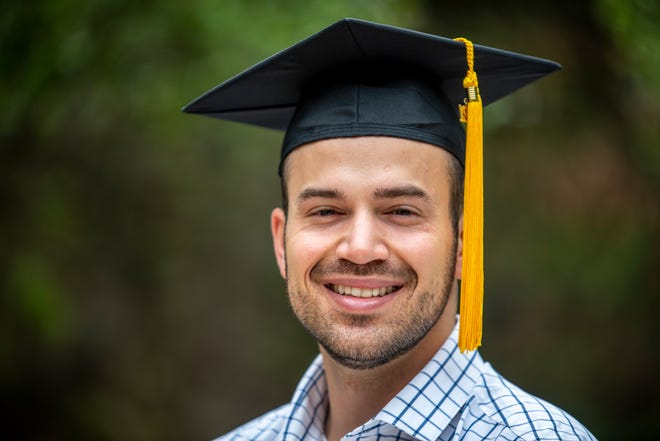 Lorenzo Canseco dropped out of college in Colorado, but after moving to Texas and enrolling at St. Edward's University, he applied to multiple Texas medical schools and was accepted at three. He will attend the Long School of Medicine at UT Health San Antonio this summer.