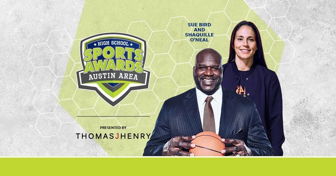 Basketball Hall of Famer Shaquille O'Neal and WNBA World Champion Sue Bird to present Athlete of the Year awards at the Austin Area High School Sports Awards.