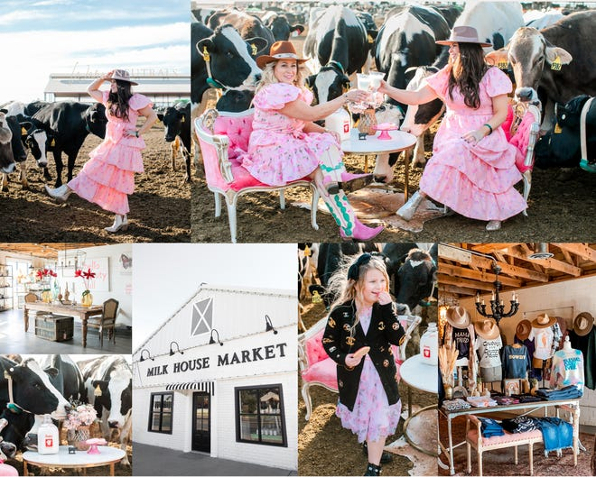 """A recent photo shoot showcases the """"Fancy Cowgirl Side"""" of the Milk House Market. The majority of their customers make the road trip to Friona from all over the Panhandle, including Amarillo and Canyon."""